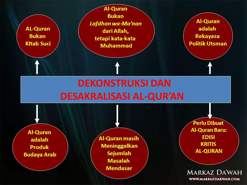 DESAKRALISASI AL-QUR'AN