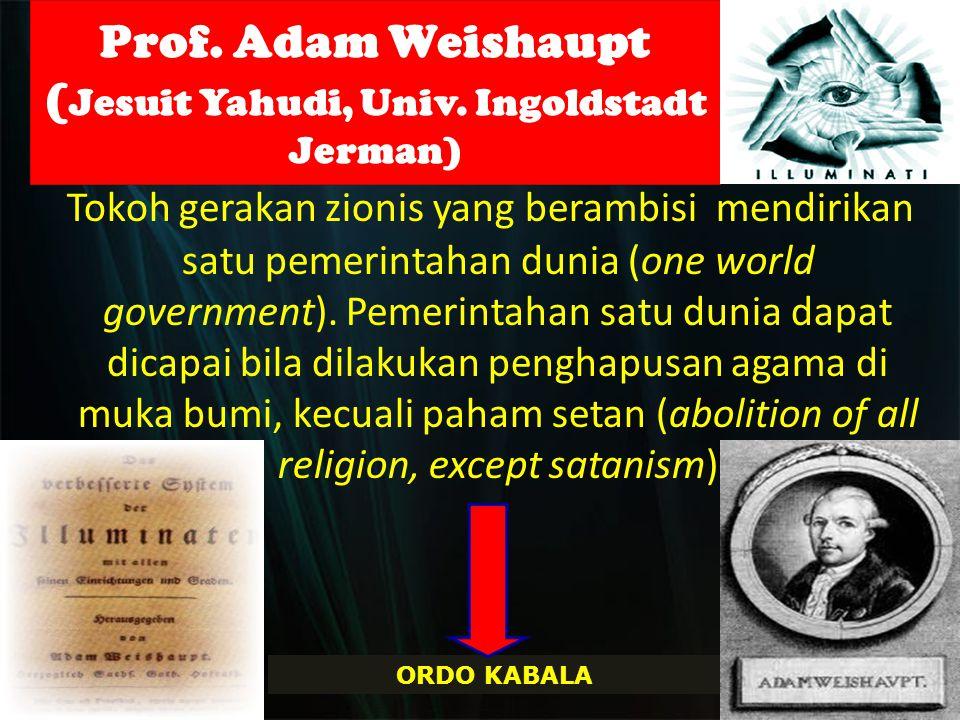 Prof. Adam Weishaupt (Jesuit Yahudi, Univ. Ingoldstadt Jerman)