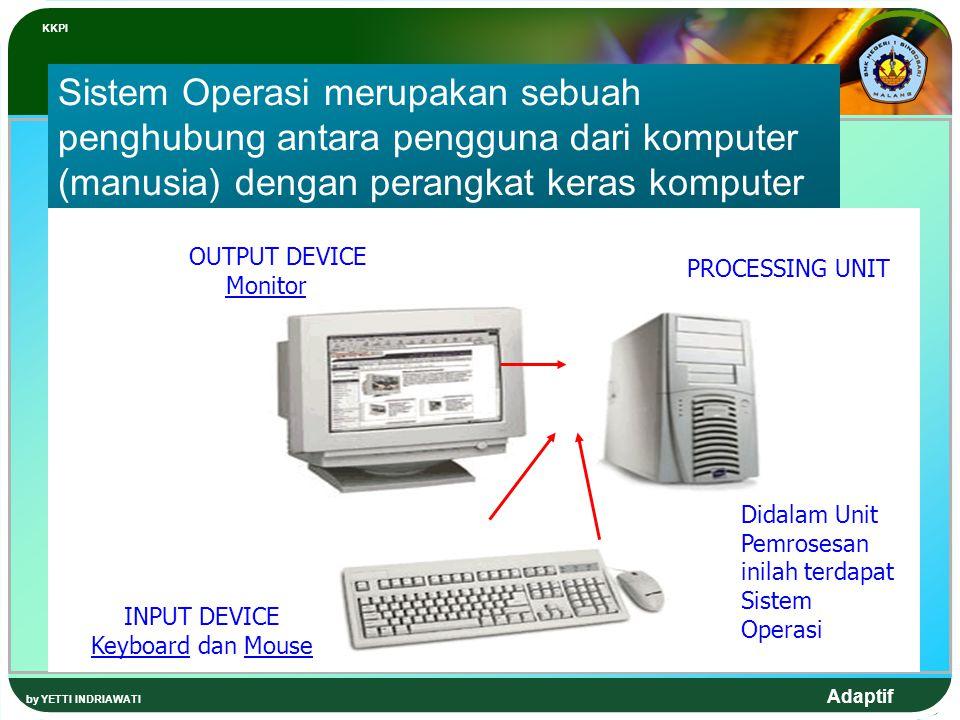 KKPI Sistem Operasi merupakan sebuah penghubung antara pengguna dari komputer (manusia) dengan perangkat keras komputer.