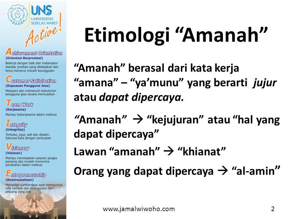 Etimologi Amanah