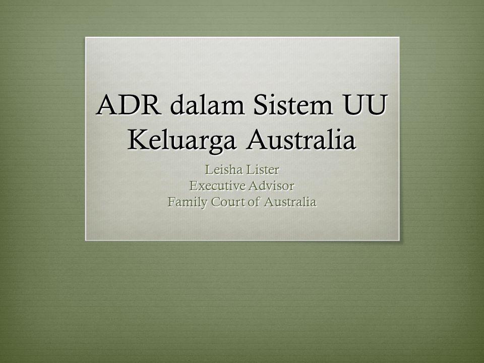 ADR dalam Sistem UU Keluarga Australia