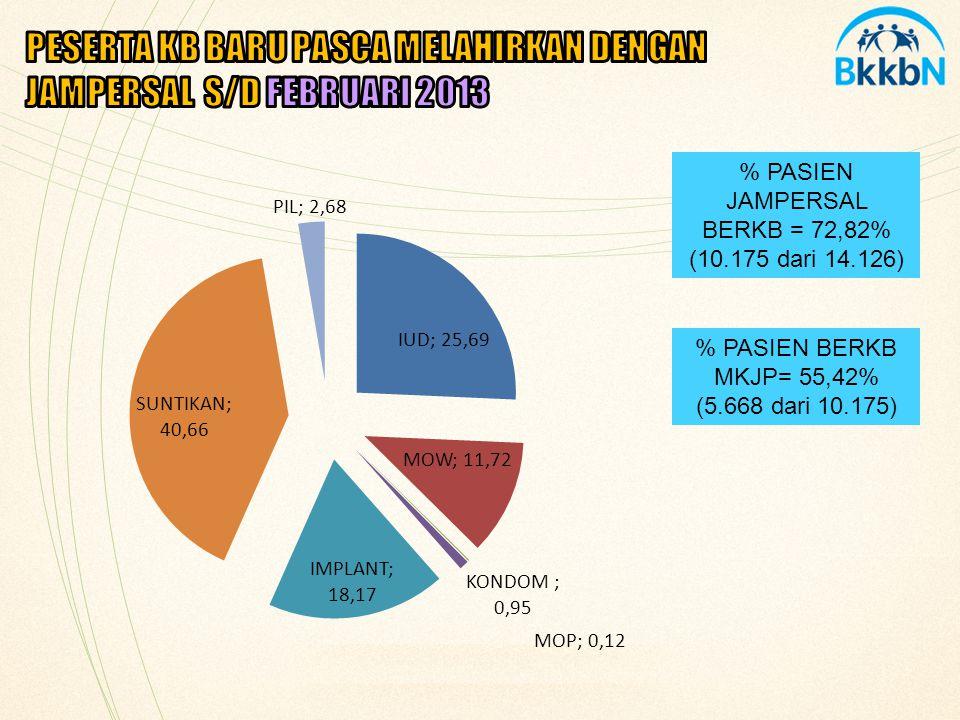 PESERTA KB BARU PASCA MELAHIRKAN DENGAN JAMPERSAL S/D FEBRUARI 2013