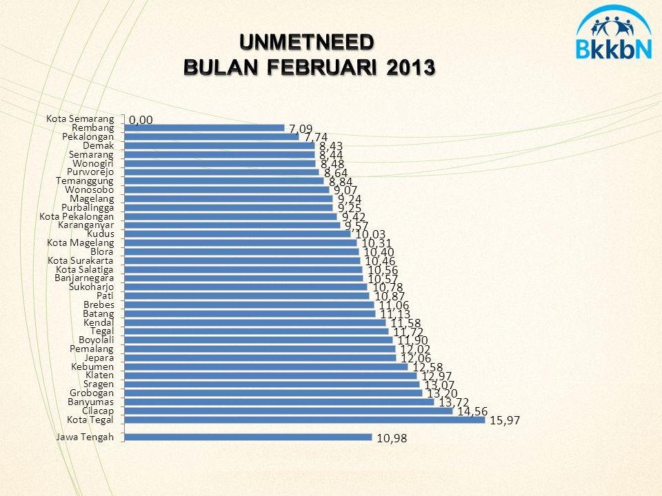 UNMETNEED BULAN FEBRUARI 2013
