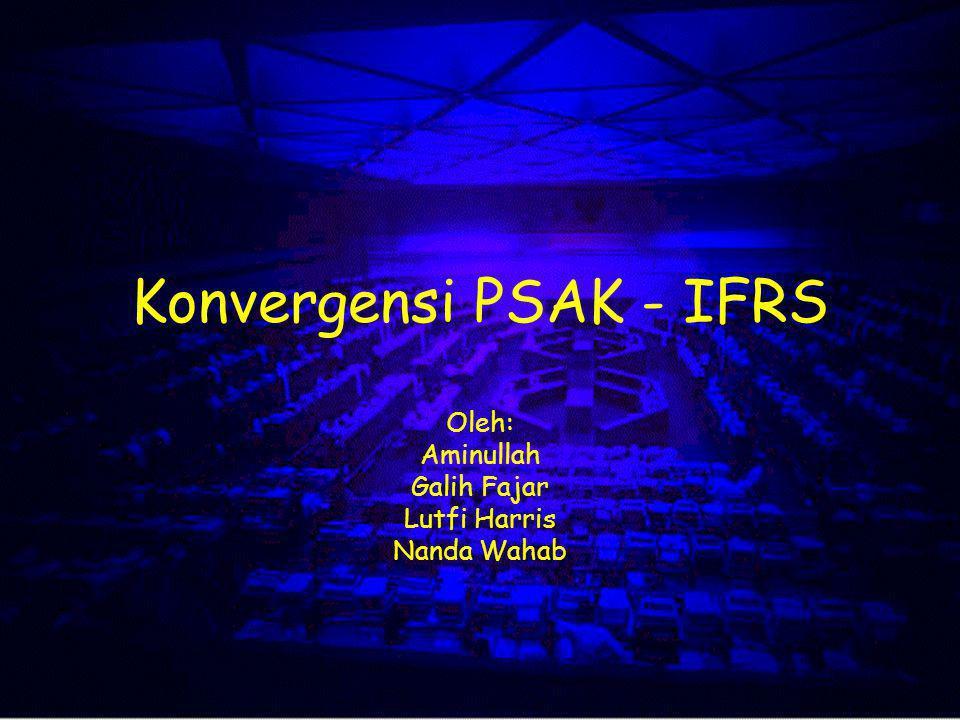 Konvergensi PSAK - IFRS