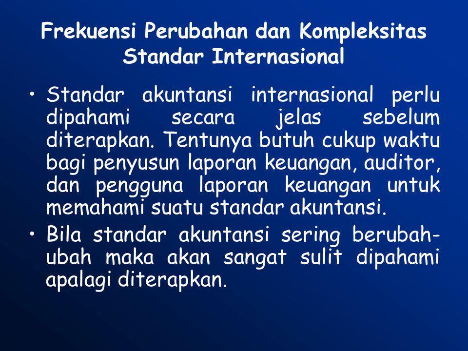 Frekuensi Perubahan dan Kompleksitas Standar Internasional