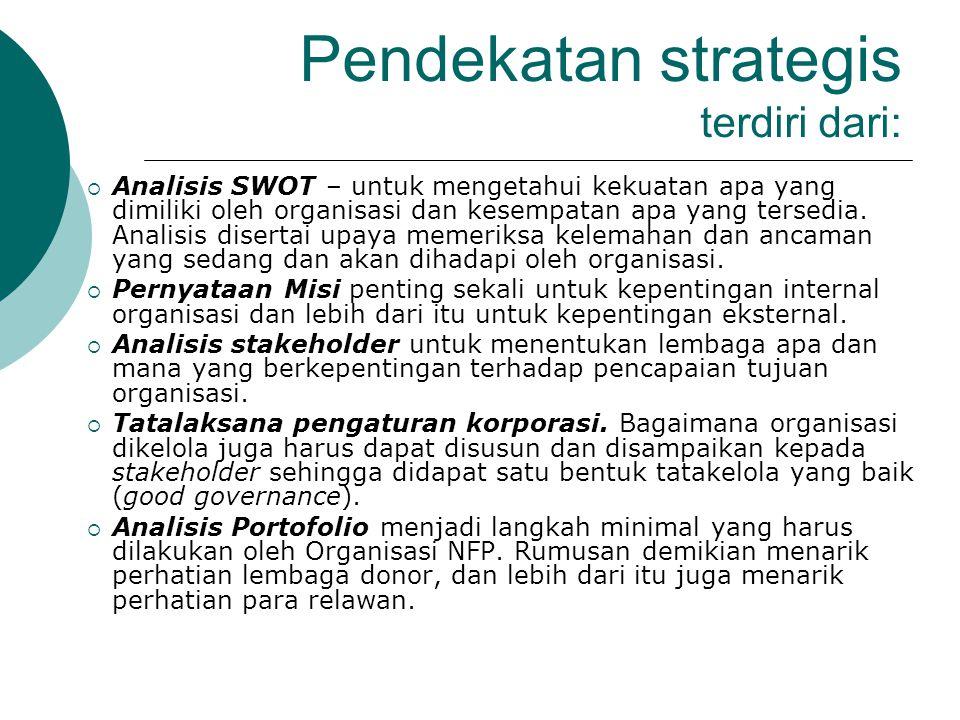 Pendekatan strategis terdiri dari:
