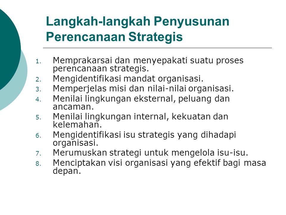 Langkah-langkah Penyusunan Perencanaan Strategis