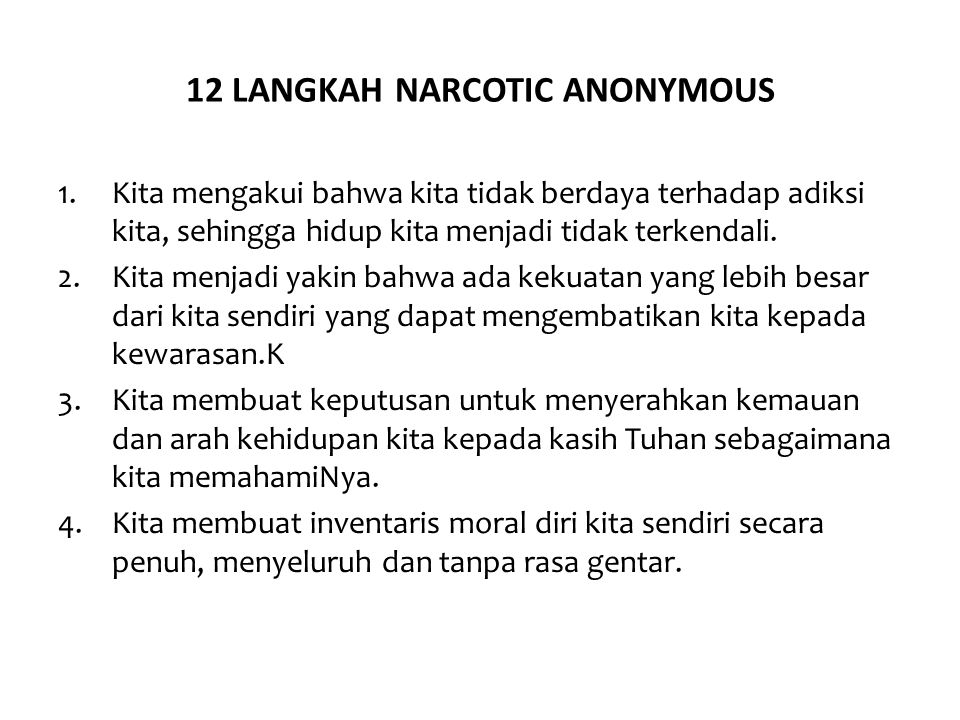 12 LANGKAH NARCOTIC ANONYMOUS