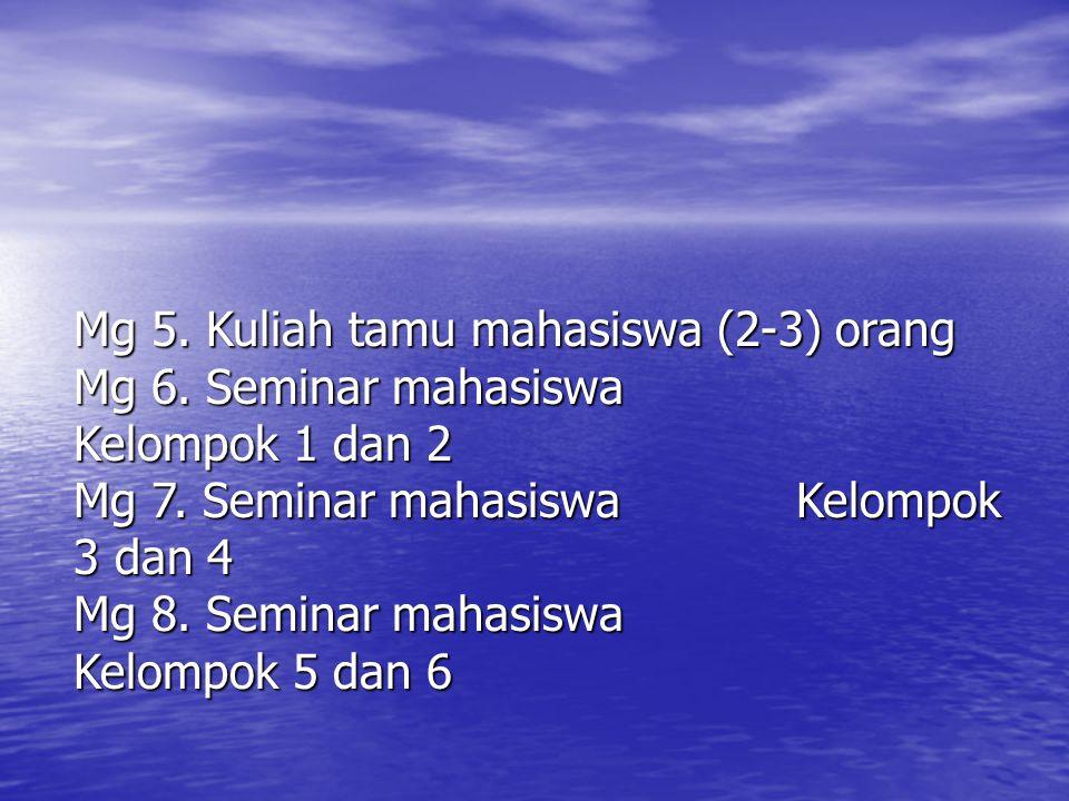 Mg 5. Kuliah tamu mahasiswa (2-3) orang