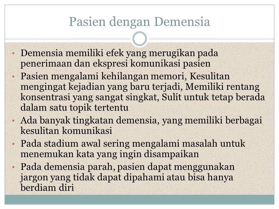 Pasien dengan Demensia