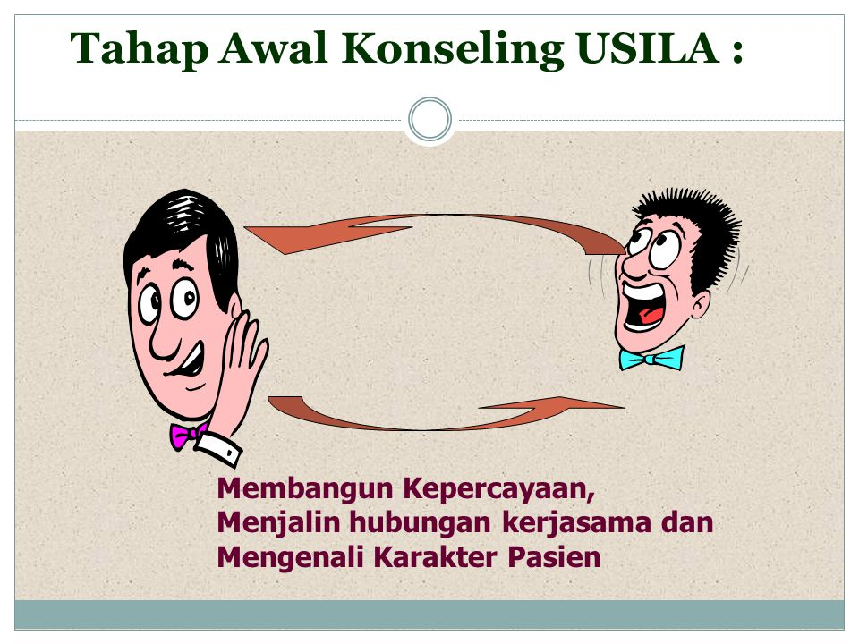 Tahap Awal Konseling USILA :