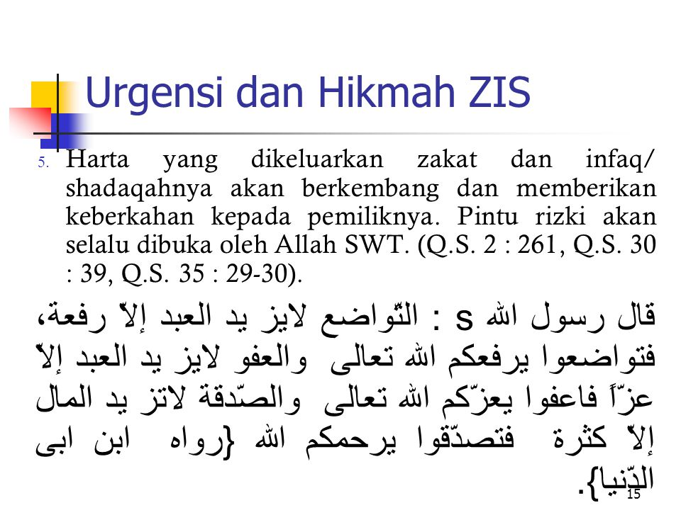 Urgensi dan Hikmah ZIS