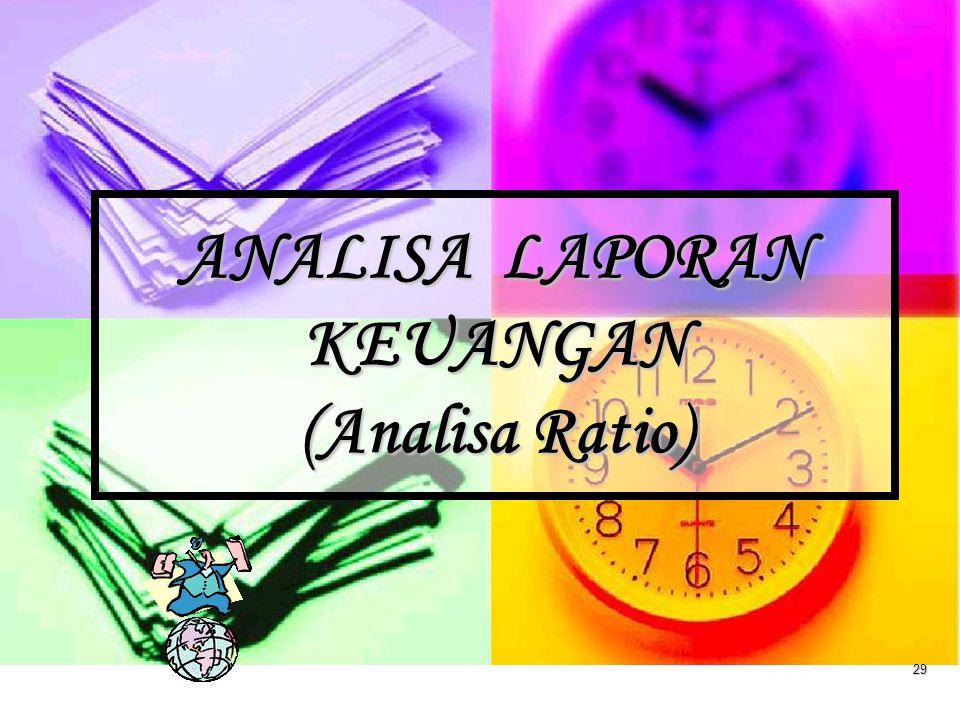 ANALISA LAPORAN KEUANGAN (Analisa Ratio)