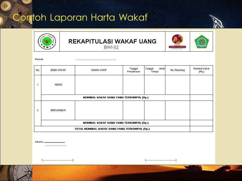 Contoh Laporan Harta Wakaf