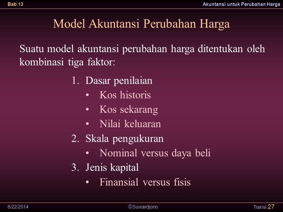 Model Akuntansi Perubahan Harga