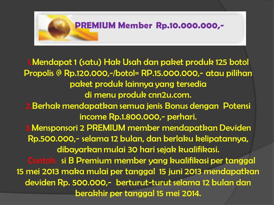 PREMIUM Member Rp.10.000.000,-