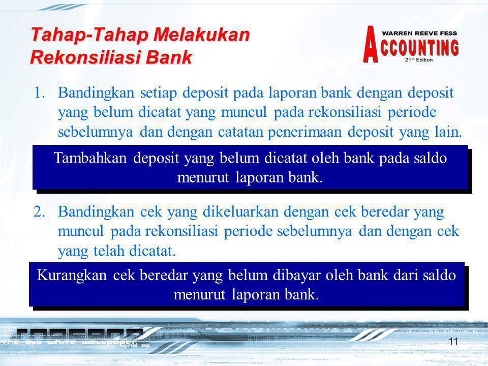 Tahap-Tahap Melakukan Rekonsiliasi Bank