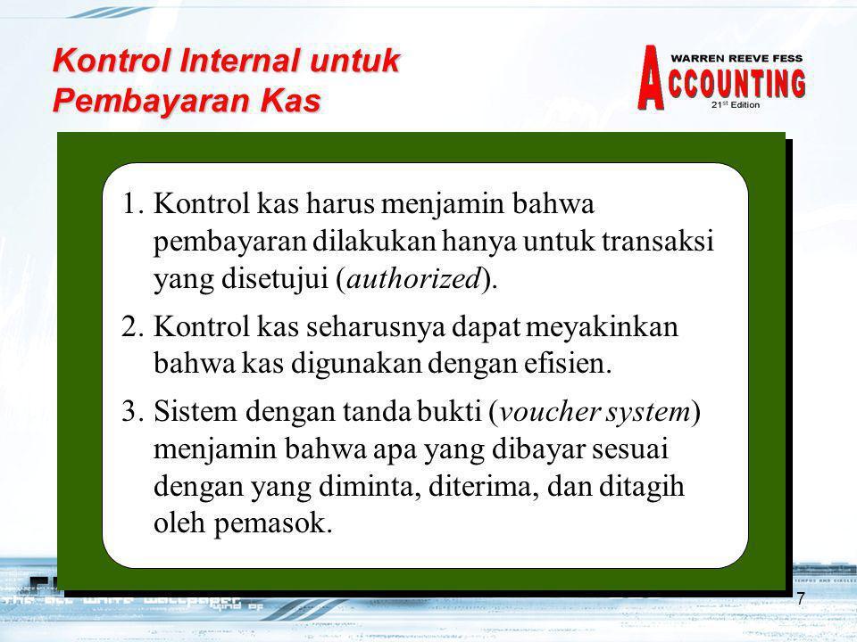 Kontrol Internal untuk Pembayaran Kas