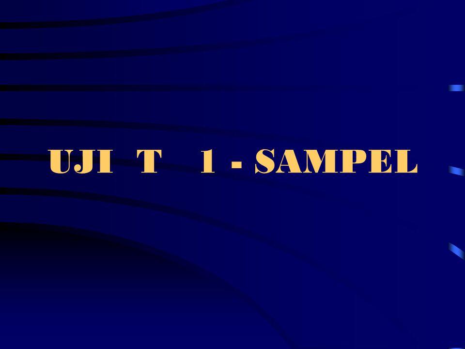 UJI T 1 - SAMPEL