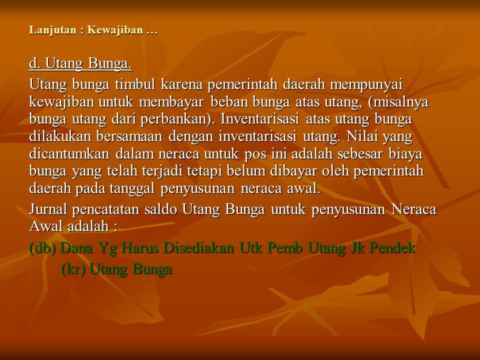 (db) Dana Yg Harus Disediakan Utk Pemb Utang Jk Pendek