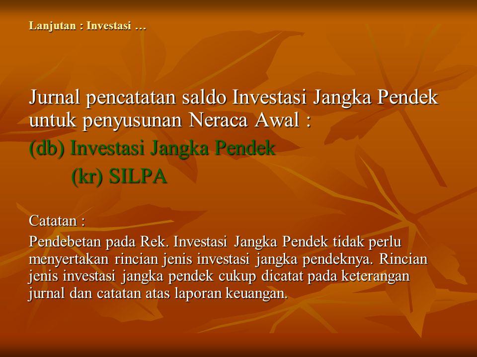 (db) Investasi Jangka Pendek (kr) SILPA