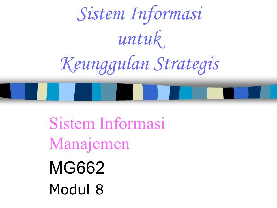 Sistem Informasi untuk Keunggulan Strategis