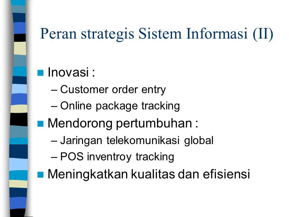 Peran strategis Sistem Informasi (II)