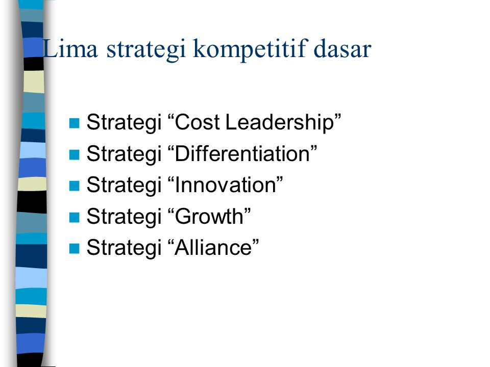 Lima strategi kompetitif dasar
