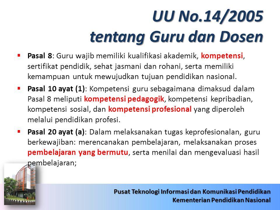 UU No.14/2005 tentang Guru dan Dosen