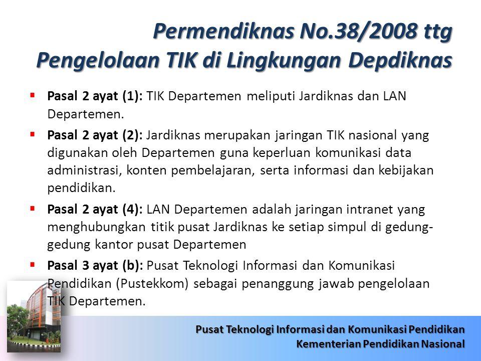 Permendiknas No.38/2008 ttg Pengelolaan TIK di Lingkungan Depdiknas