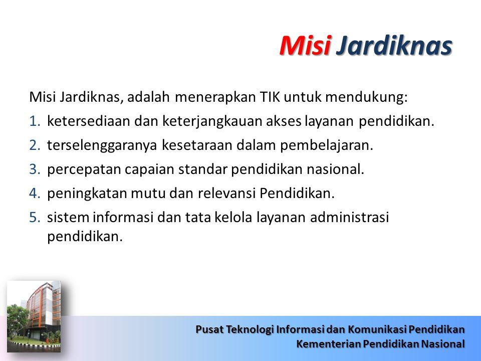 Misi Jardiknas Misi Jardiknas, adalah menerapkan TIK untuk mendukung:
