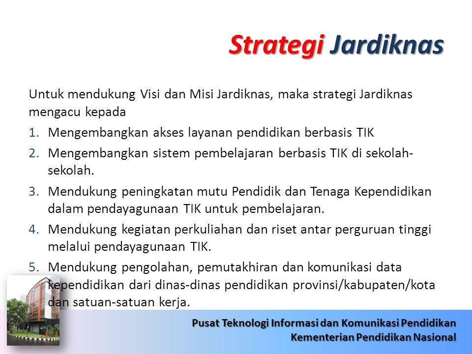 Strategi Jardiknas Untuk mendukung Visi dan Misi Jardiknas, maka strategi Jardiknas mengacu kepada.