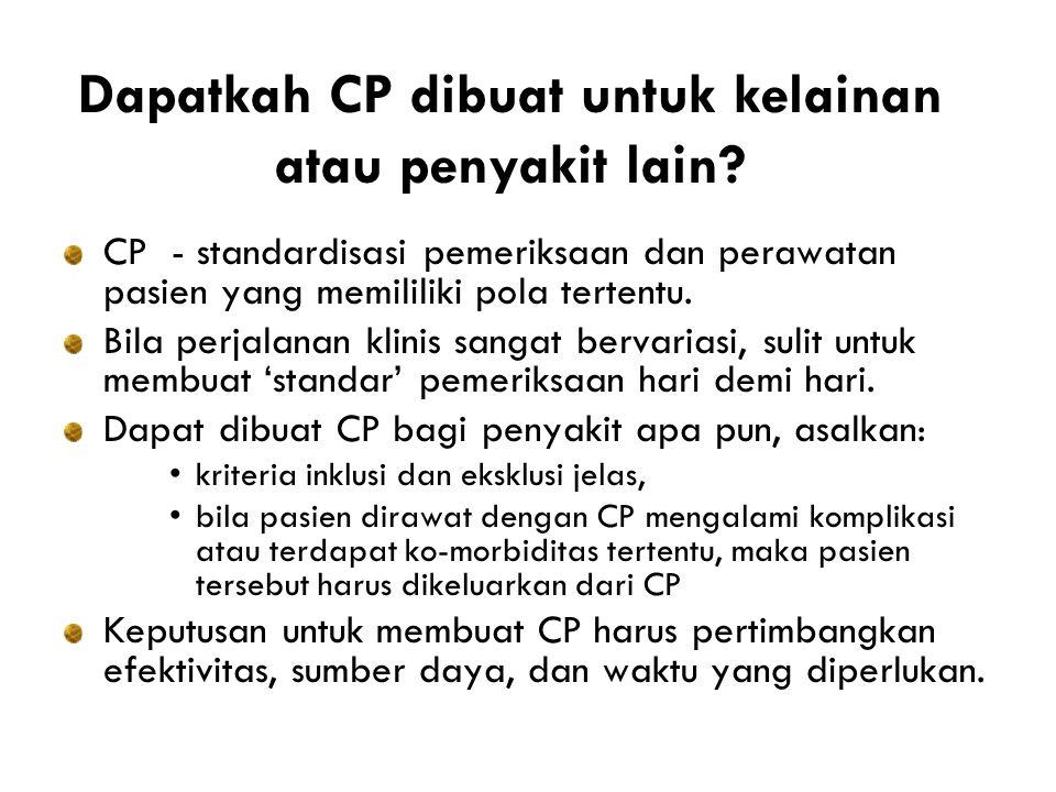 Dapatkah CP dibuat untuk kelainan atau penyakit lain