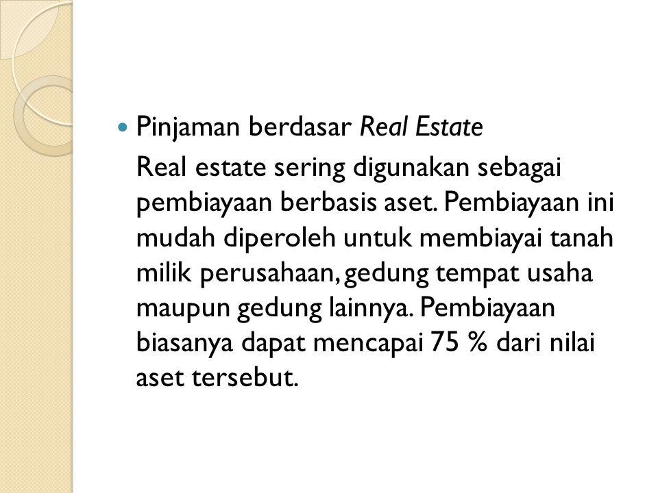 Pinjaman berdasar Real Estate