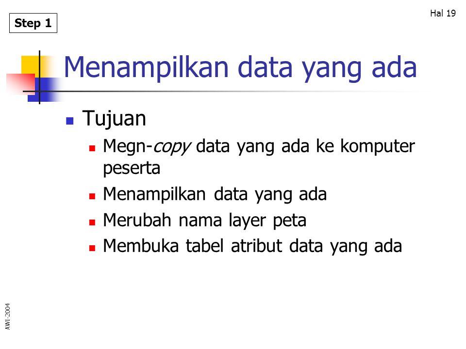 Menampilkan data yang ada