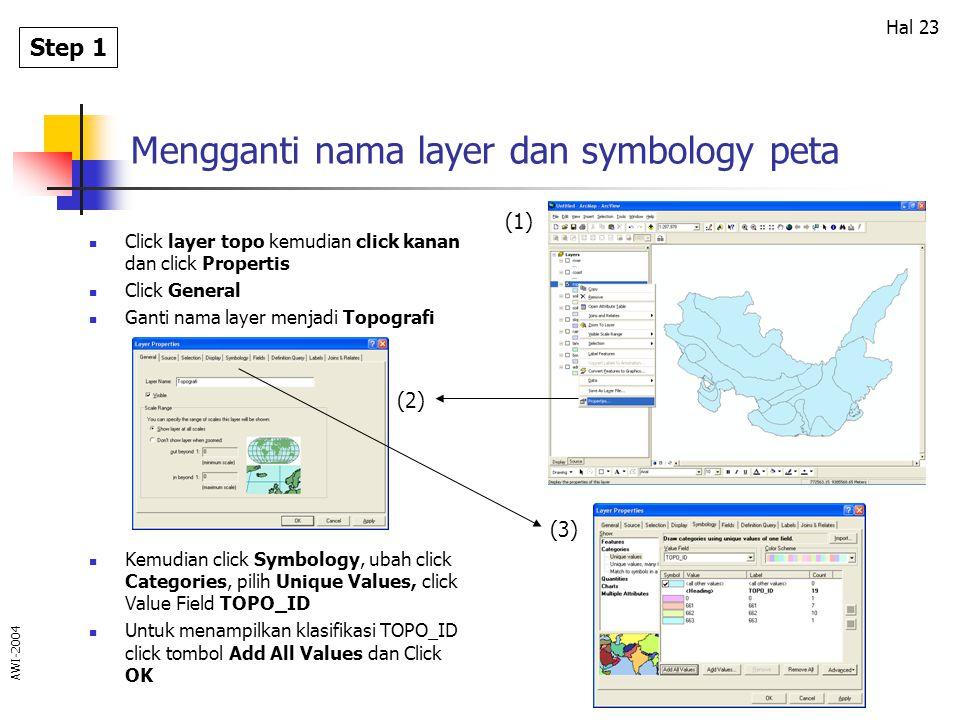 Mengganti nama layer dan symbology peta