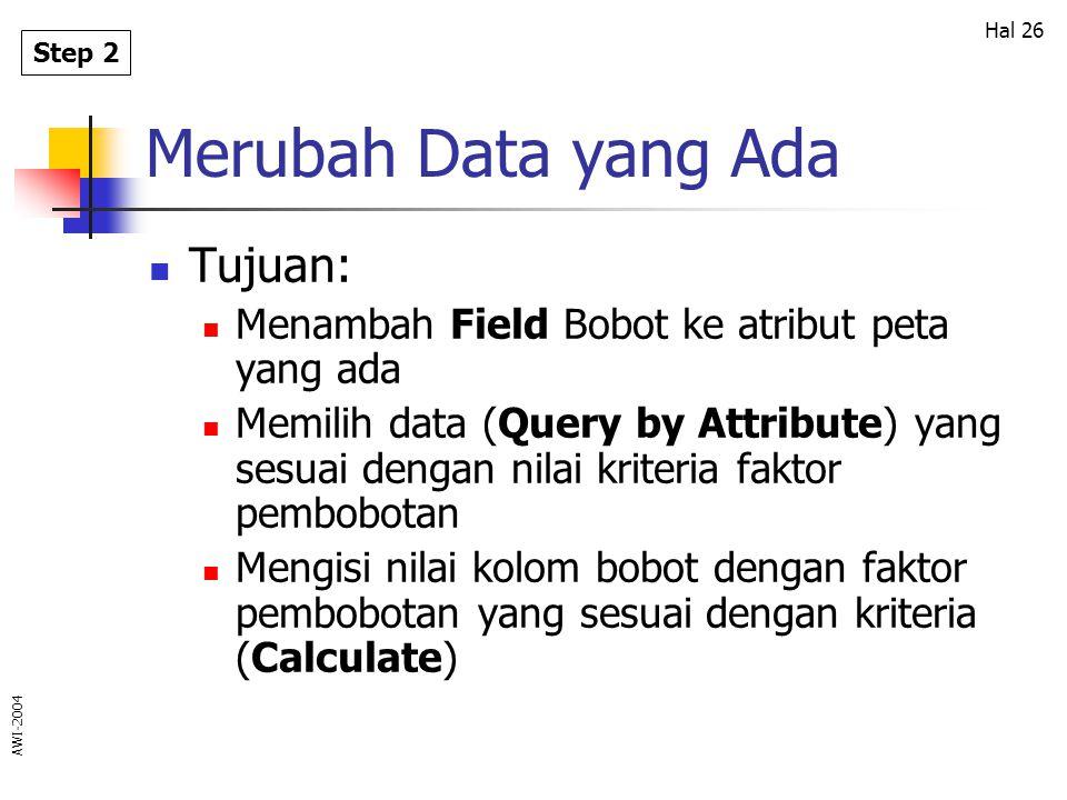 Merubah Data yang Ada Tujuan: