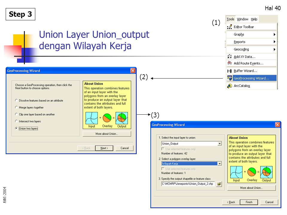 Union Layer Union_output dengan Wilayah Kerja