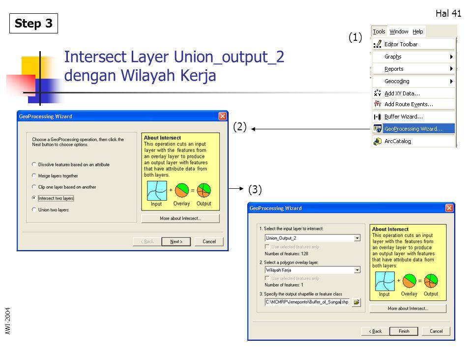 Intersect Layer Union_output_2 dengan Wilayah Kerja