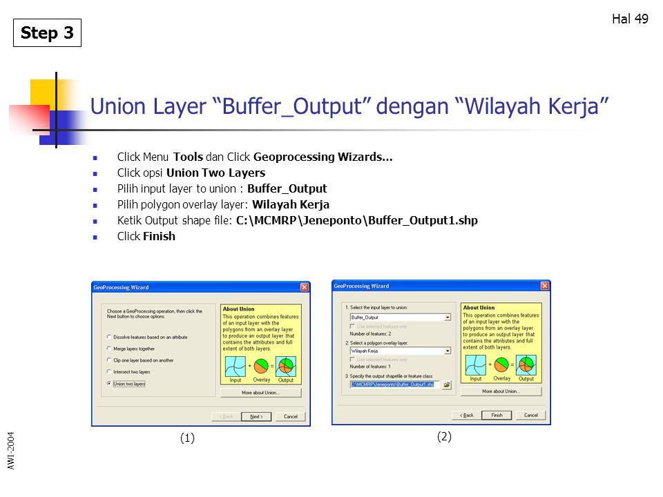 Union Layer Buffer_Output dengan Wilayah Kerja