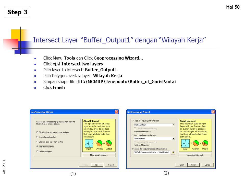 Intersect Layer Buffer_Output1 dengan Wilayah Kerja