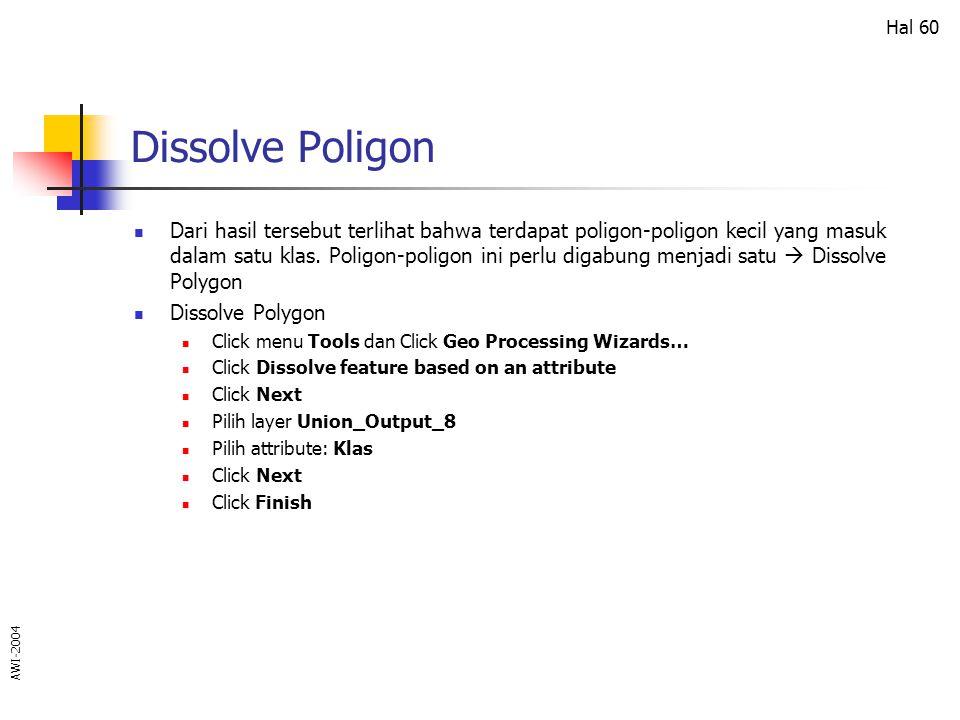 Dissolve Poligon