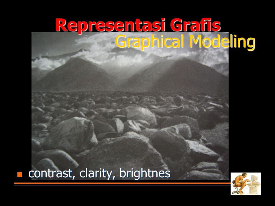 Representasi Grafis Graphical Modeling contrast, clarity, brightnes