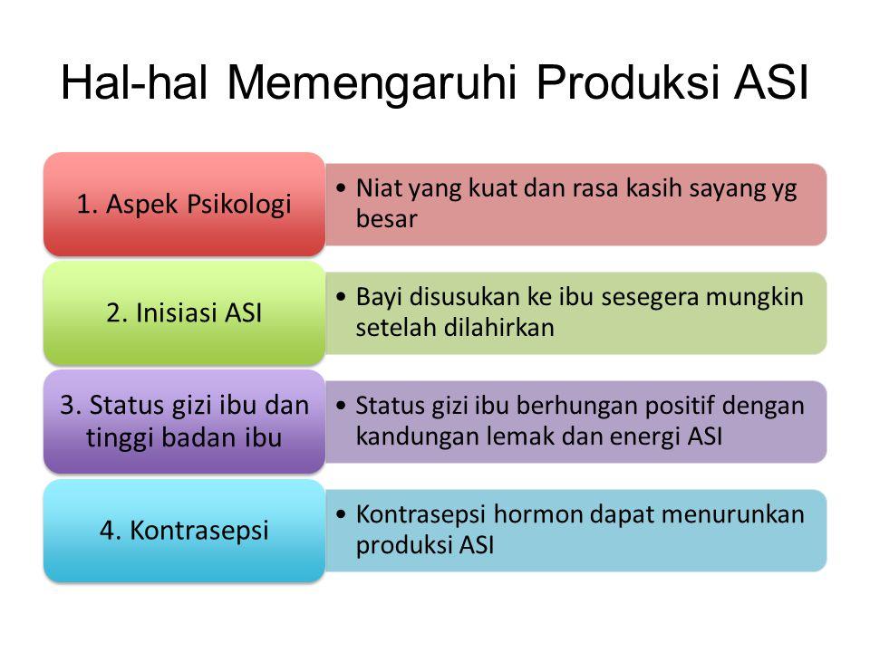 Hal-hal Memengaruhi Produksi ASI