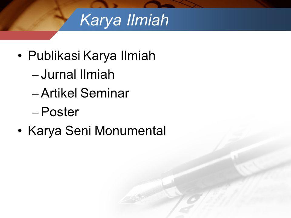 Karya Ilmiah Publikasi Karya Ilmiah Jurnal Ilmiah Artikel Seminar