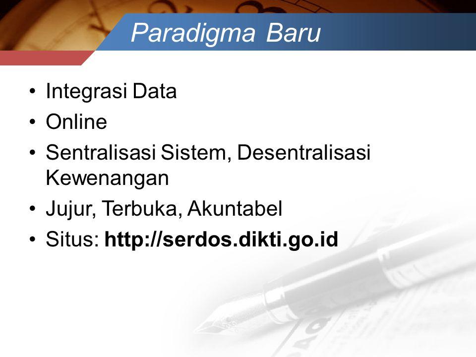 Paradigma Baru Integrasi Data Online