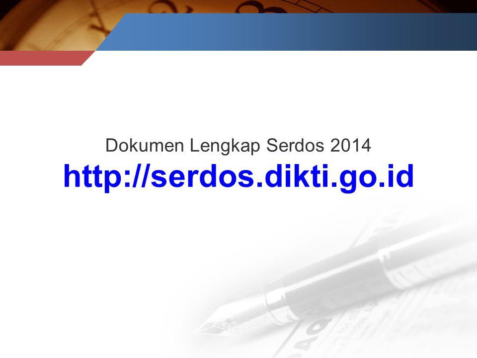 Dokumen Lengkap Serdos 2014