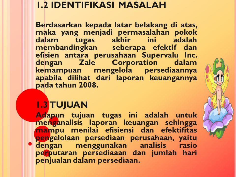 1.2 IDENTIFIKASI MASALAH