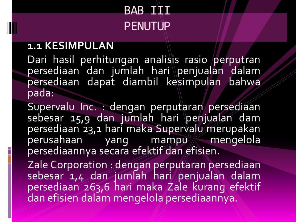 BAB III PENUTUP 1.1 KESIMPULAN