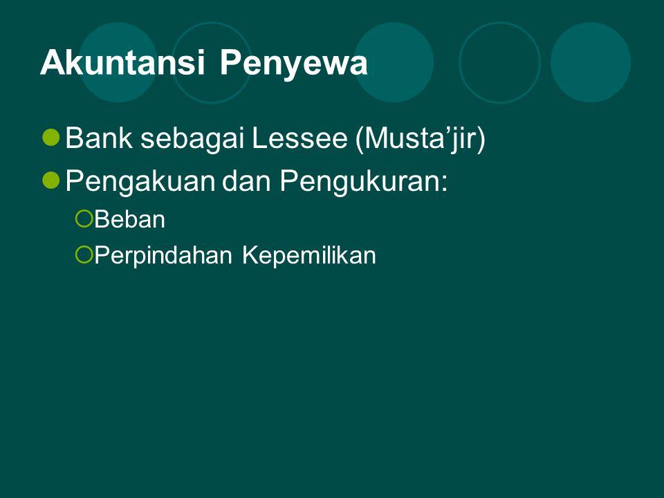 Akuntansi Penyewa Bank sebagai Lessee (Musta'jir)